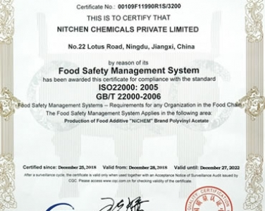 Safty Certification for Nitchen PVAc